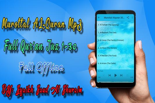 Shuraim Full Quran MP3 Offline 截圖 3