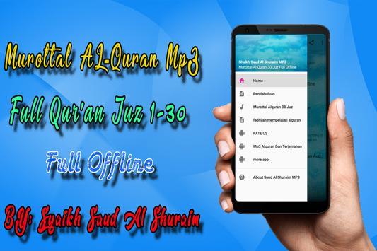 Shuraim Full Quran MP3 Offline 海報