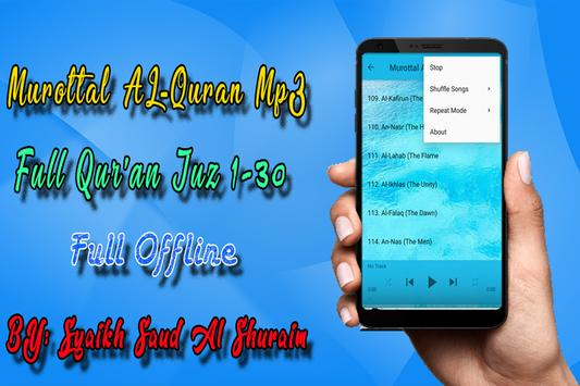 Shuraim Full Quran MP3 Offline screenshot 4
