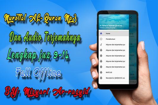MP3 AL Quran Dan Terjemahannya Offline poster