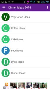 Dinner Ideas 2016 apk screenshot