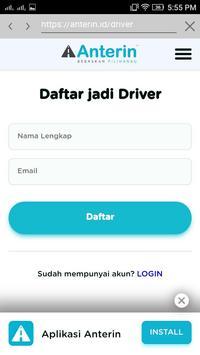 Pendaftaran Anterin Online screenshot 2
