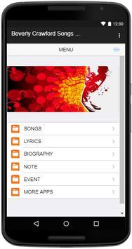 Beverly Crawford Songs Lyrics screenshot 1