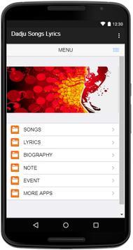 Dadju Songs Lyrics screenshot 1