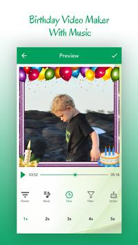 Birthday Video Maker With Mucic apk screenshot