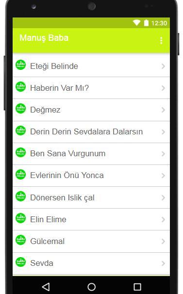 Android Icin Manus Baba Etegi Belinde Sarki Sozleri Apk Yi Indir