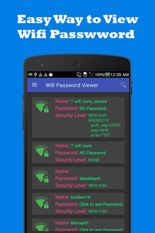 Android 用の Wifi Password Viewer APK をダウンロード