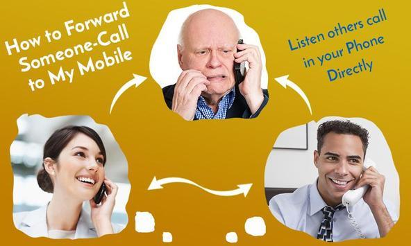 Forward someone call on My Mobile – Listen Calls screenshot 1