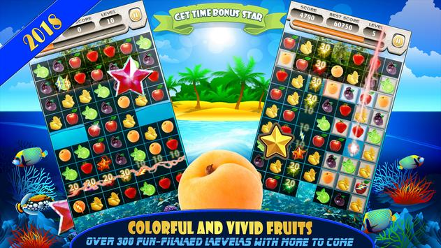 Fruit Splash Free Match 3 Jewels Island Adventure screenshot 1