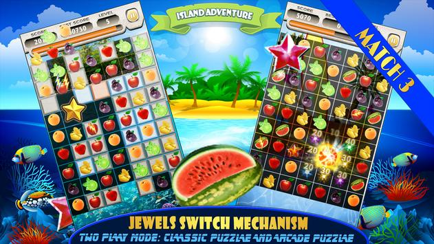 Fruit Splash Free Match 3 Jewels Island Adventure screenshot 2