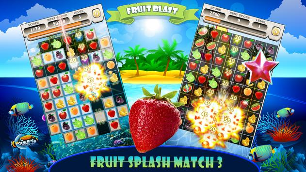 Fruit Splash Free Match 3 Jewels Island Adventure screenshot 6