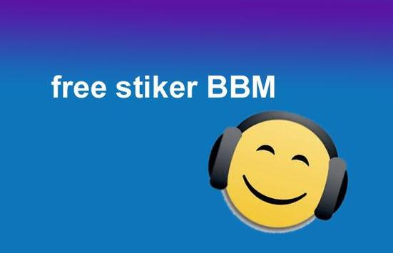 sticker BBM® free android poster