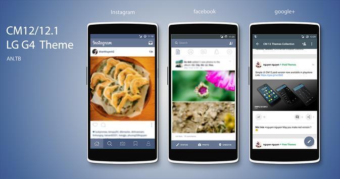 CM12/12.1 LG G4 Theme apk screenshot