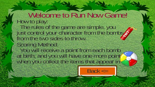 Run Now game poster