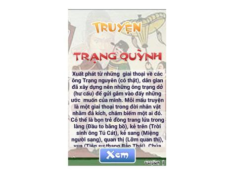Truyện Trạng Quỳnh poster