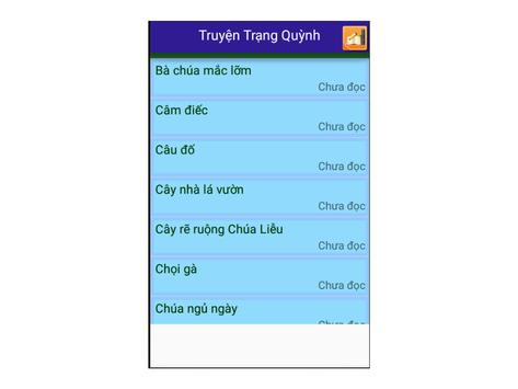 Truyện Trạng Quỳnh apk screenshot
