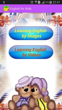 English for Kids poster