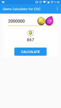 Gems Calculator for Clash Of Clans poster