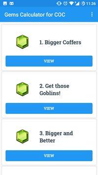Gems Calculator for Clash Of Clans apk screenshot