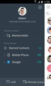 Works Mobile Contacts poster