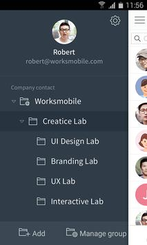 Works Mobile Contacts screenshot 1