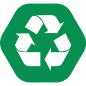 Separate! glass sort & recycle icon