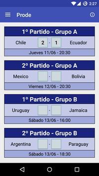 Prode Copa America Chile 2015 screenshot 1