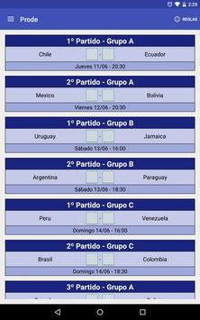 Prode Copa America Chile 2015 screenshot 4