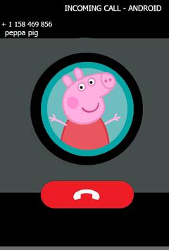 Fake call from pepa prank pig screenshot 1