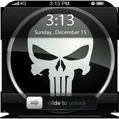 Black Skull ScreenLock icon