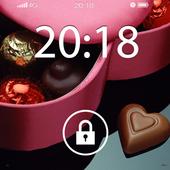 Screen Lock Chocolate Love icon