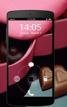 Screen Lock Chocolate Love apk screenshot