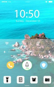 Screen Lock Sunny Beach apk screenshot
