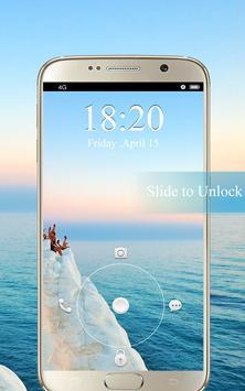 Screen Lock Sunset Wallpaper apk screenshot