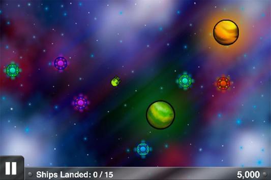 Spaceship Land Planet Game poster