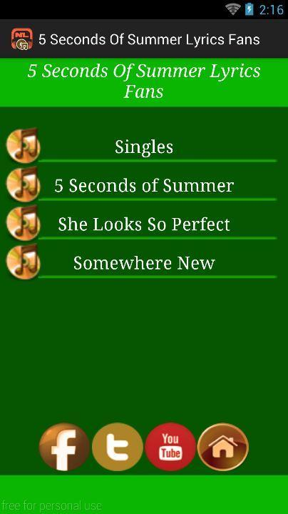 5SOS Lyrics Fans for Android - APK Download