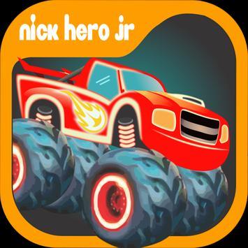 Blaze Truck Monster Games poster