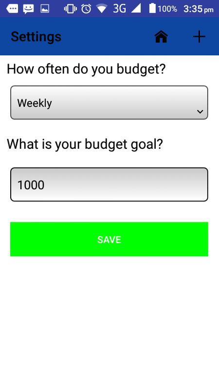 simple budget poster simple budget apk screenshot