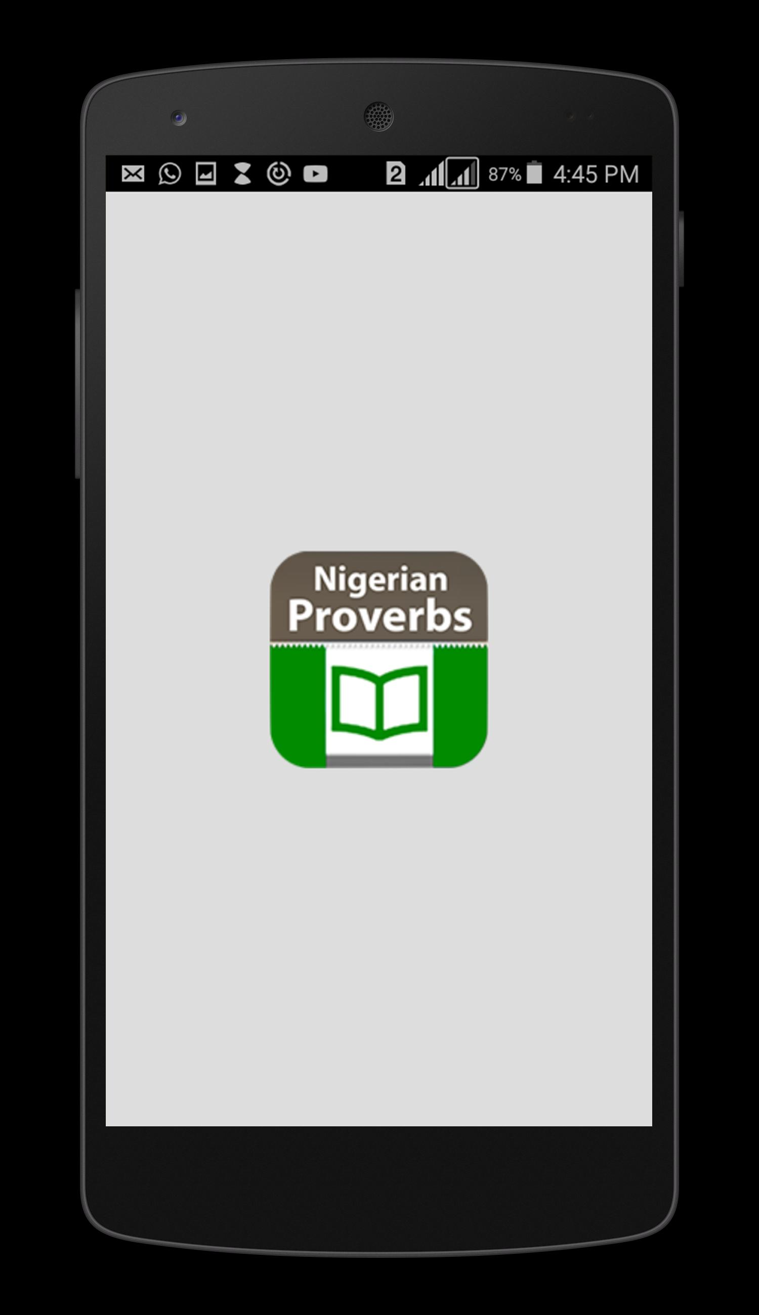 Nigerian Proverbs poster