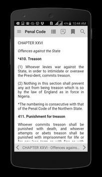 Nigeria Penal Code screenshot 1