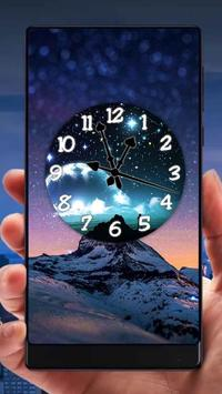 Night Analog Clock Live Wallpaper poster