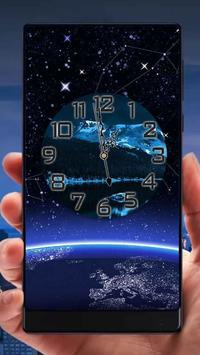 Night Analog Clock Live Wallpaper apk screenshot