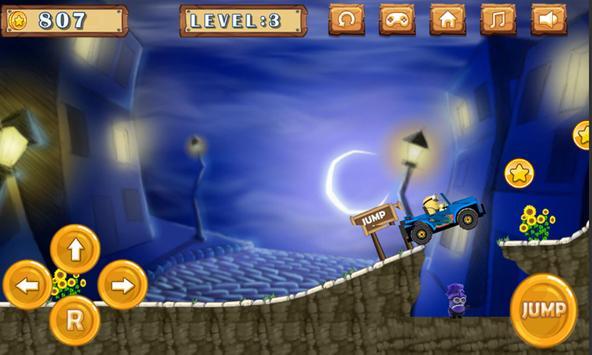 Hill Climb Wild Banana Minions screenshot 1