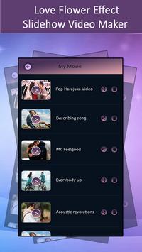Love Flower Effect SlideShow Video Maker screenshot 2