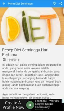 7 Menu Diet Seminggu apk screenshot