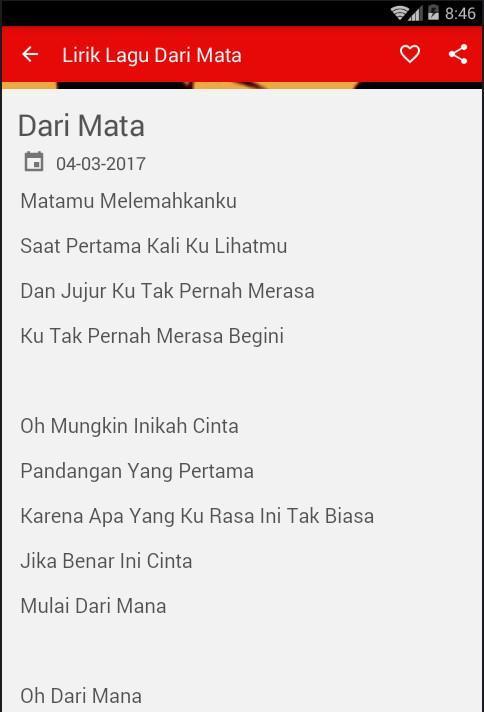 Lirik Lagu Dari Mata Jaz For Android Apk Download