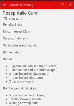 Resep Masakan Padang screenshot 5
