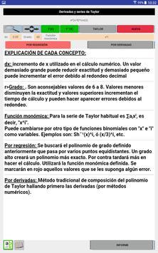 Cálculo de series de Taylor apk screenshot