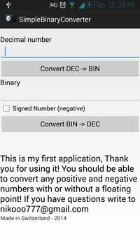 Decimal <-> Binary Converter for Android - APK Download