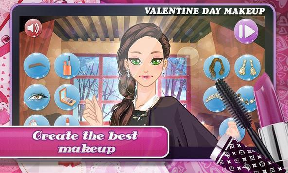 Valentine Day: Classy Makeup screenshot 4